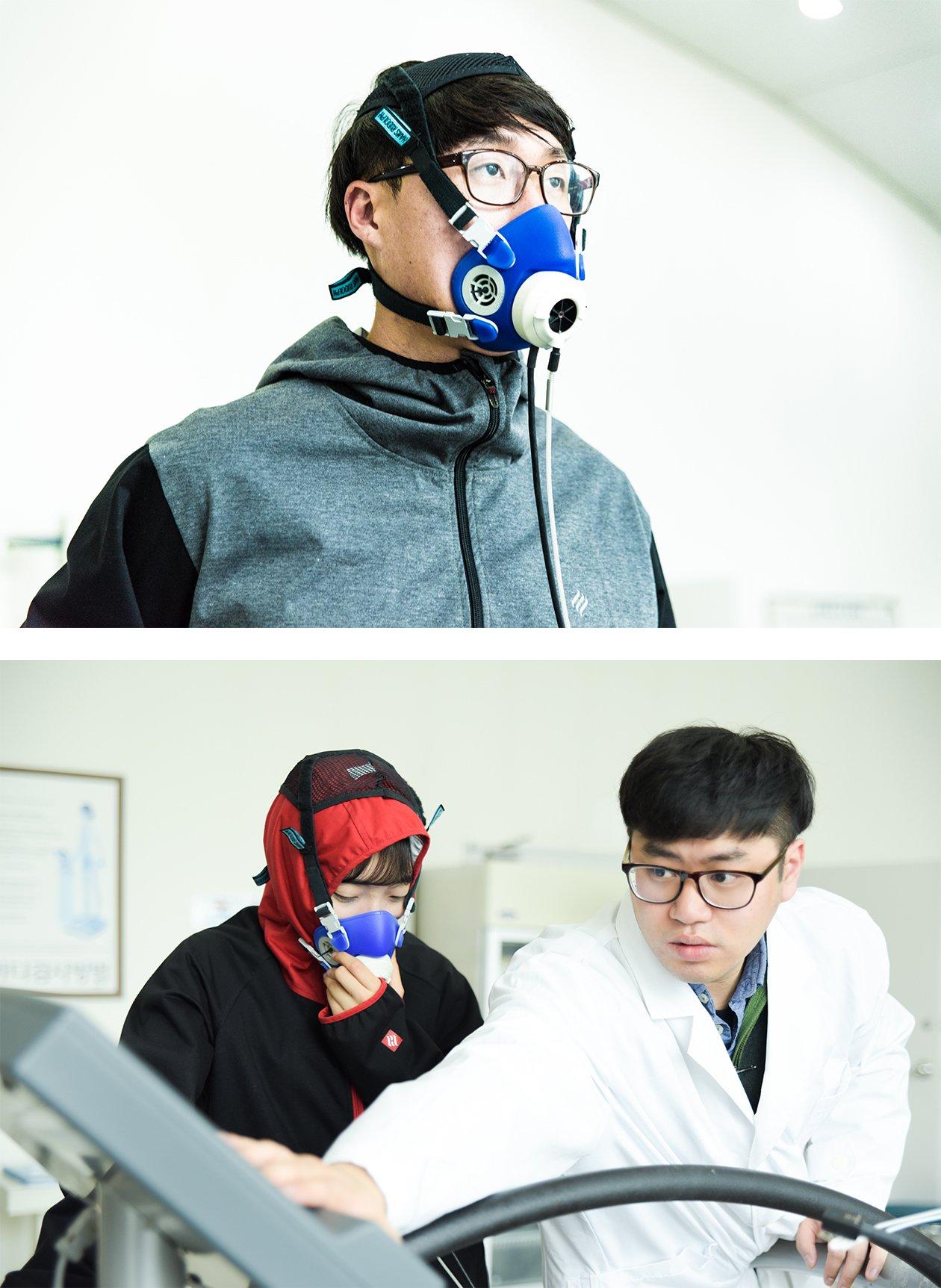 용인대학교 다이어트땀복 핫슈트 실험 사진