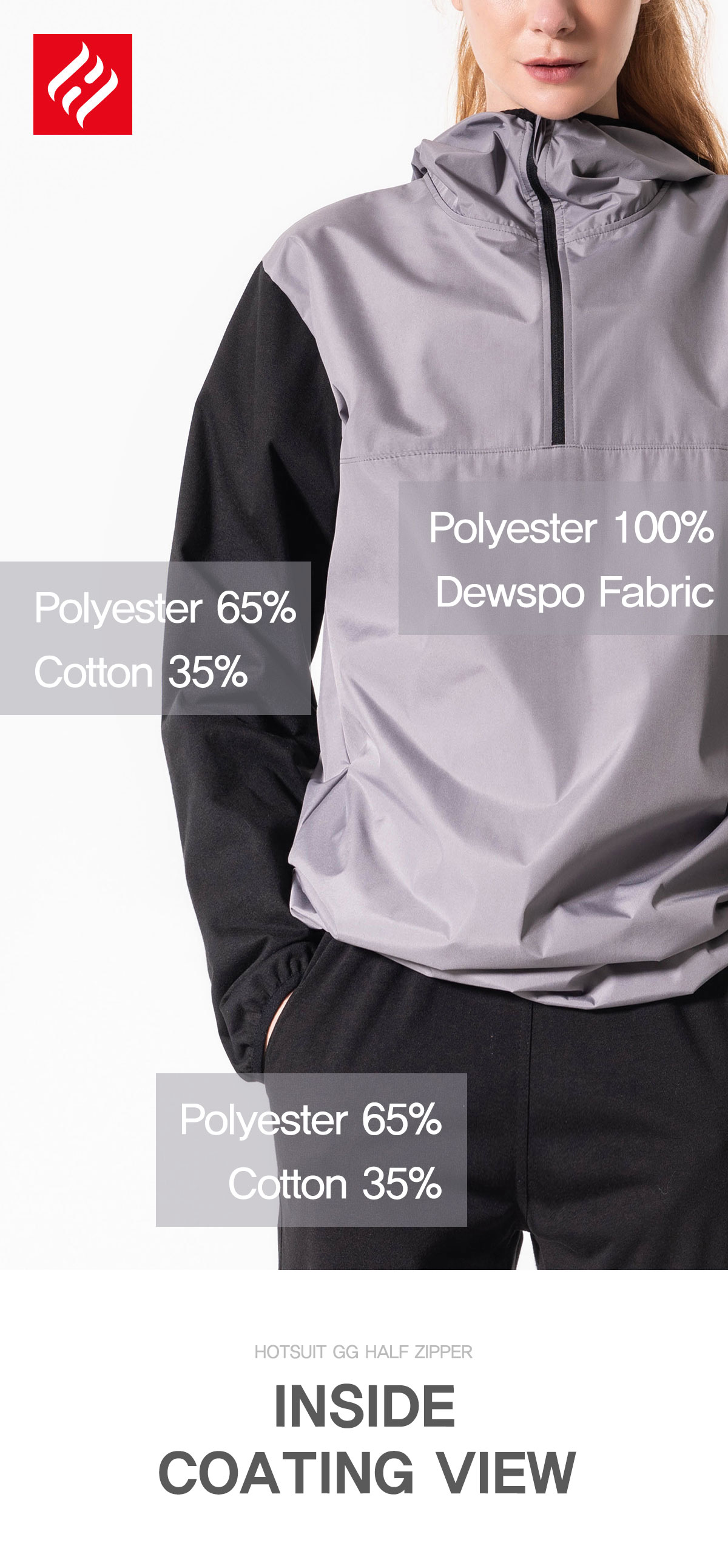 Polyester 100% Dewspo Fabric Polyester 65% Cotton 35%