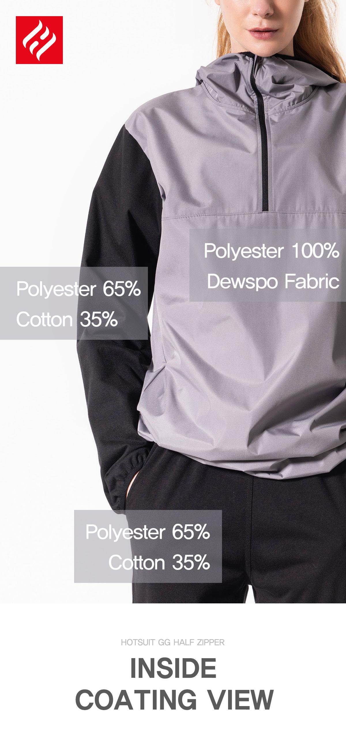 Polyester 100% Dewspo Fabric Polyester 65% Cotton 35%