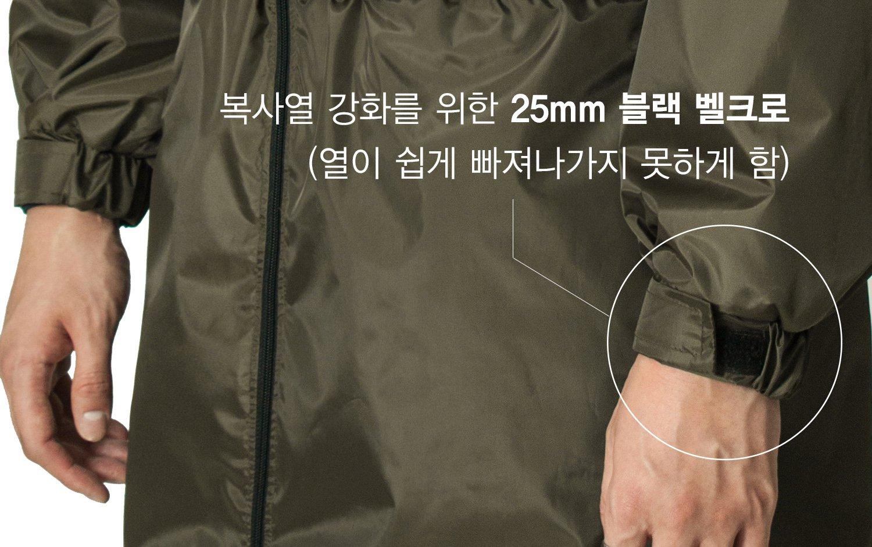 복사열 강화를 위한 25mm 블랙 벨크로(열이 쉽게 빠져나가지 못하게 함)